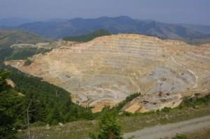Una din minele de la Rosia Montana