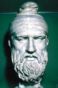 bust (începutul sec. II d. Hr.) de nobil dac conservat la Muzeul Vaticanului, considerat de E. Panaitescu ca fiind însuşi Decebal