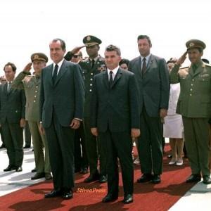 Nicolae Ceausescu si Richard Nixon