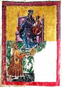 Portretul lui Stefan cel Mare in Tetraevanghelul de la Humor