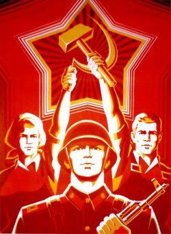 Afis de propaganda sovietica