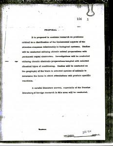 Document declasificat MKULTRA