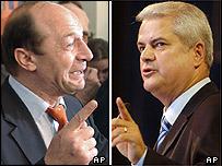 Basescu si Nastase - in cursa electorala