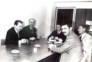 Ion Iliescu la o sedinta, in anul 1968