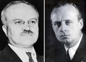 Viaceslav Molotov si Joachim von Ribbentrop