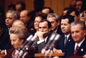 Nicu Ceausescu la finalul Congresului al XIV-lea