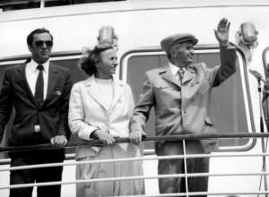 Nicu Ceausescu impreuna cu parintii sai