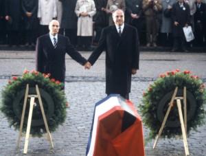 Francois Mitterrand is Helmut Kohl
