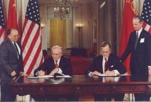 George Herbert Bush si Mihail Gorbaciov