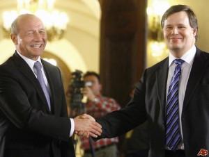 Jeffrey Franks si Traian Basescu in 2009