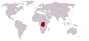 Harta posesiunilor coloniale ale Belgiei