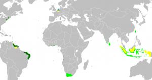 Harta posesiunilor coloniale olandeze