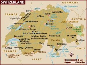 Harta Elvetiei
