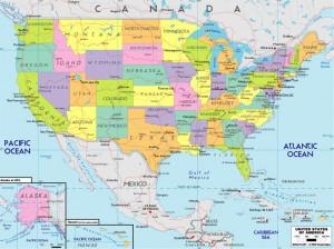 Harta Statelor Unite al Americii