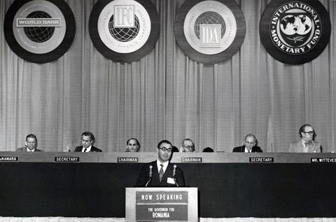 Prezidiul sesiunii anuale a FMI-BIRD,Washington,1-5 septembrie1975